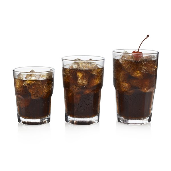 Boston Drinkware 18 Piece Glass Every Day Glasses Set by Libbey