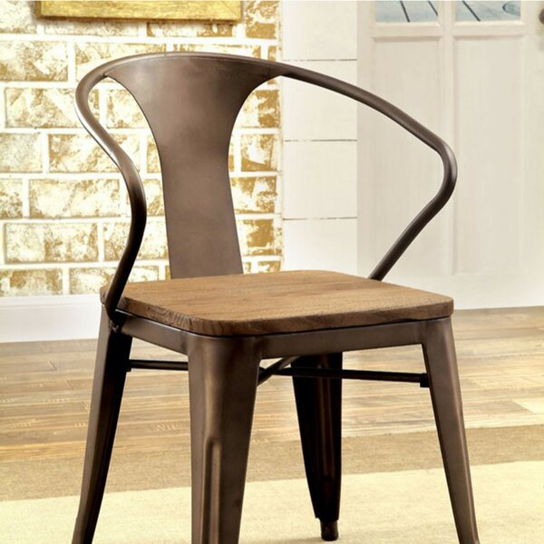 Carlo Industrial Dining Chair (Set of 4) by 17 Stories