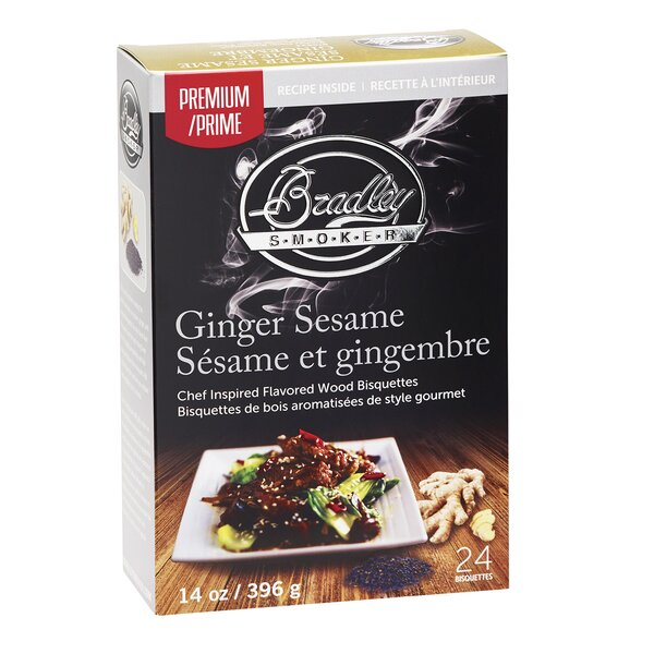 Premium Ginger Sesame Bisquettes (Set of 24) by Bradley Smoker