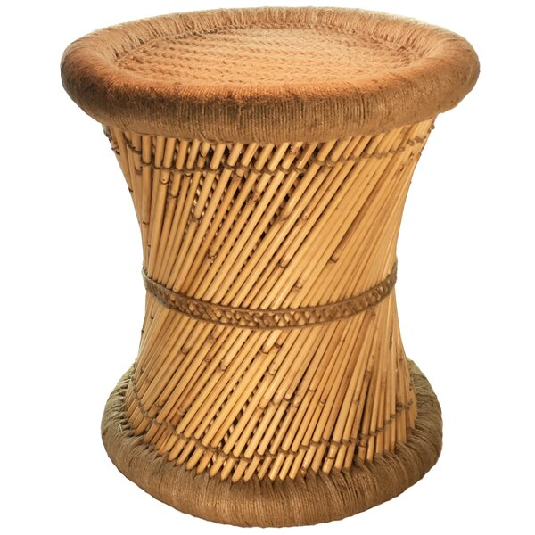 Moray Decorative Jute Accent Stool by Natural Geo