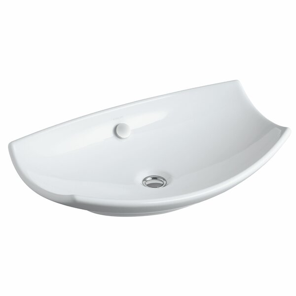 Bancroft Specialty Ceramic Specialty Vessel Bathroom Sink with Overflow by Kohler