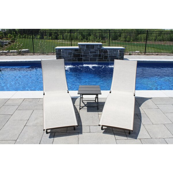 Bontang Sun Lounger Set with Table by Orren Ellis