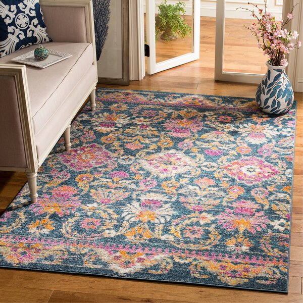 Esparza Boho Blue Area Rug by Bungalow Rose