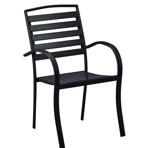Galicia Modern Contemporary Stacking Patio Dining Chair by Wrought Studio