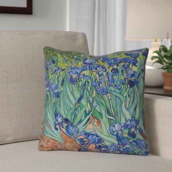 Morley Irises Indoor/Outdoor Throw Pillow