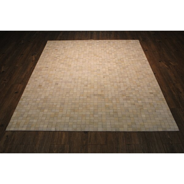 One-Of-A-Kind Manhasset Hand-Woven Off-White Area Rug by Gracie Oaks