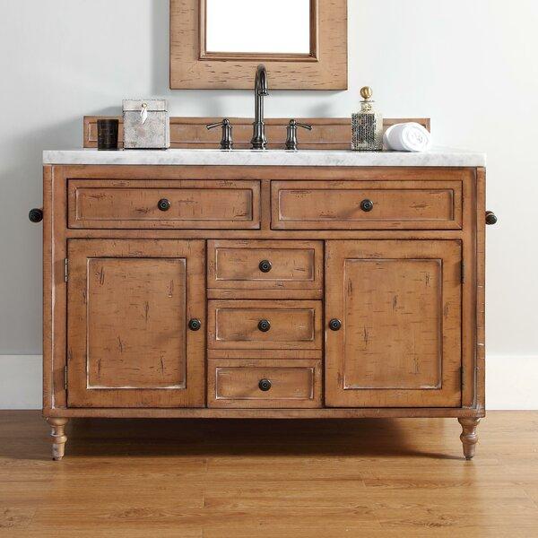 Berlin 48 Single Driftwood Patina Bathroom Vanity Set by Laurel Foundry Modern Farmhouse