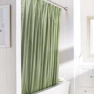 Navy And Green Shower Curtain