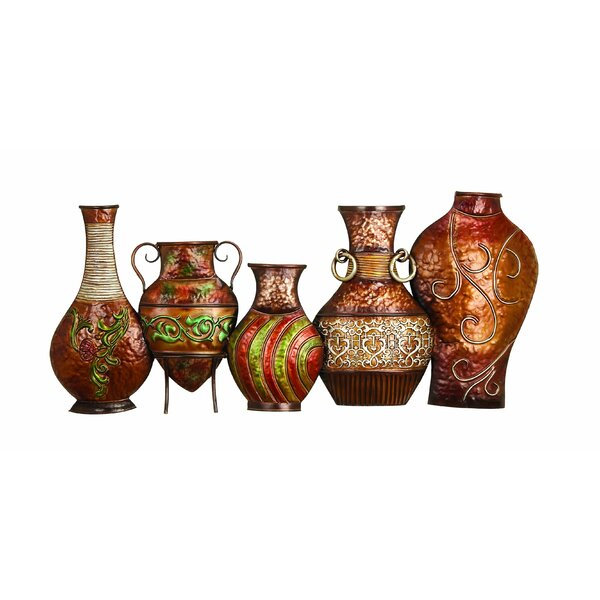 Ornamental Metal Vase Wall Décor by World Menagerie