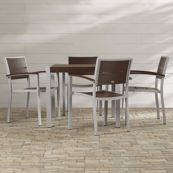 Surf City 5 Piece Dining Set by Trex Outdoor