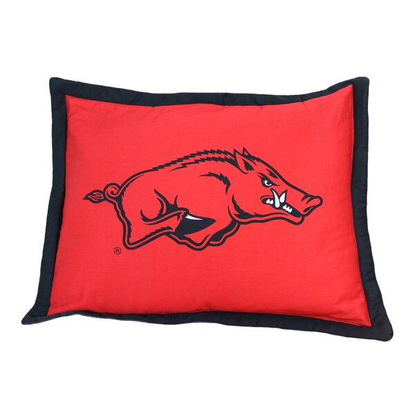 NCAA  Arkansas Pillow Sham by College Covers