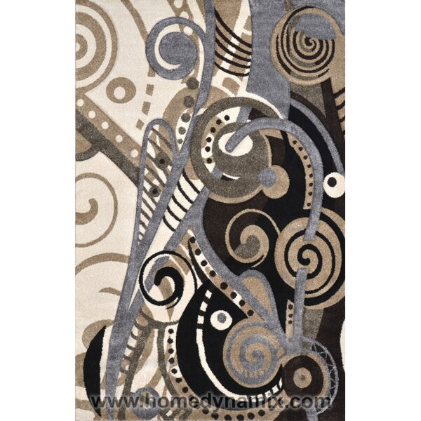 Schmitt Hand-Carved Gray/Black Area Rug by Ebern Designs