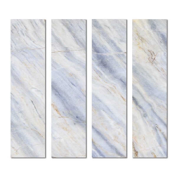3 x 12 Beveled Glass Subway Tile in Beige/Blue by Upscale Designs by EMA