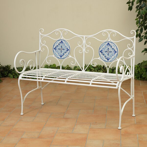 Tarbox Ceramic Garden Bench by Fleur De Lis Living