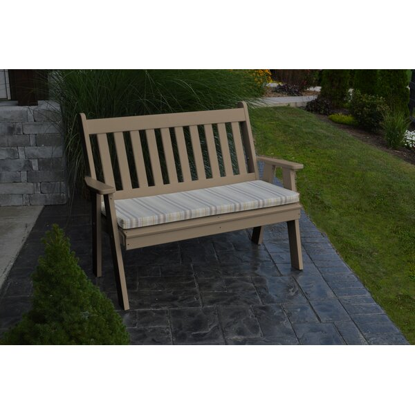 Hemby Plastic Garden Bench by Highland Dunes