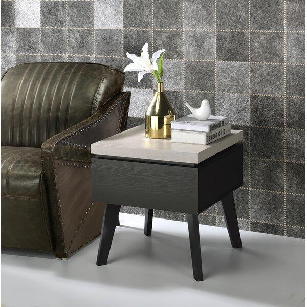 Grzedzinska End Table With Storage By Wrought Studio