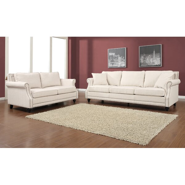 Cadwell 2 Piece Living Room Set by Three Posts