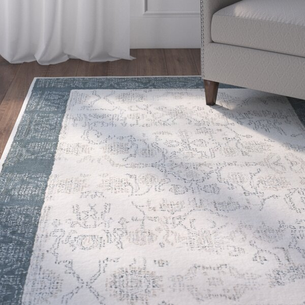Alexis Hand-Tufted Navy/Beige Area Rug by Charlton Home