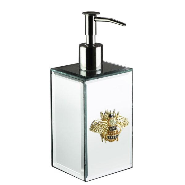 Chesnut Bumble Bee Brooch Mirror Lotion Dispenser by House of Hampton
