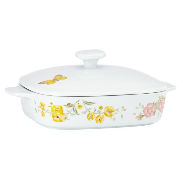 Butterfly Meadow Stoneware Square Casserole with Lid by Lenox