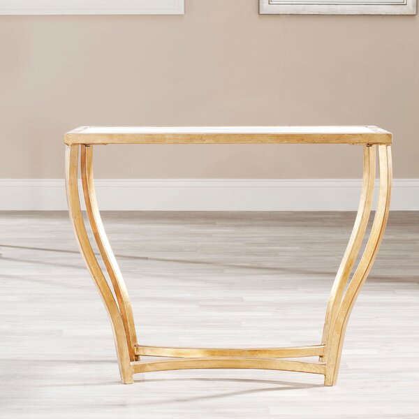 Rex Glass Top Sled End Table By House Of Hampton