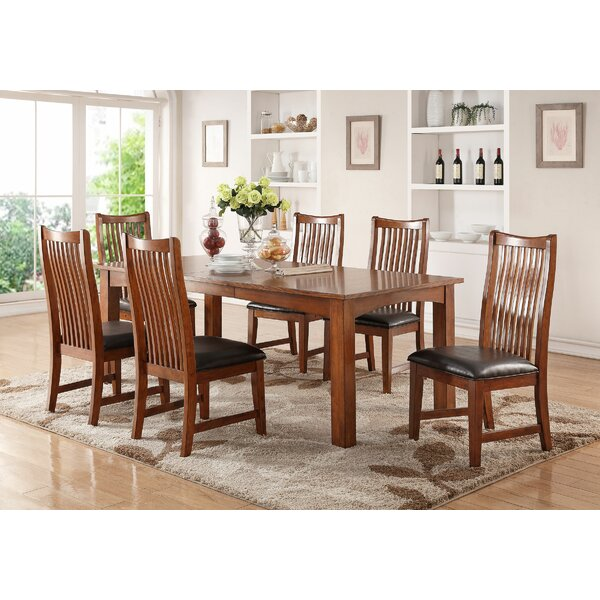 Fort Kent 7 Piece Solid Wood Dining Set by Loon Peak