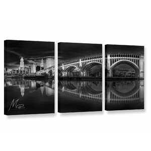 'Dramatic Cleveland' Photographic Print Multi-Piece Image on Canvas by Latitude Run