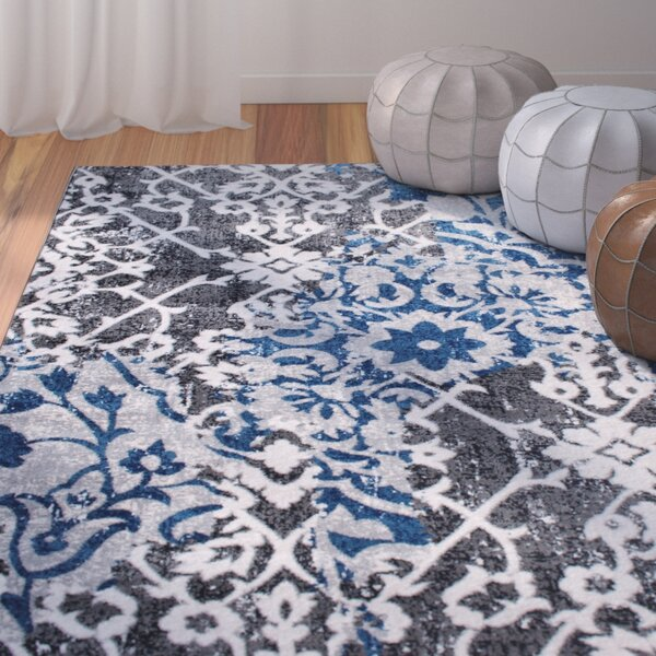 Rosie Gray/Blue Area Rug by Bungalow Rose