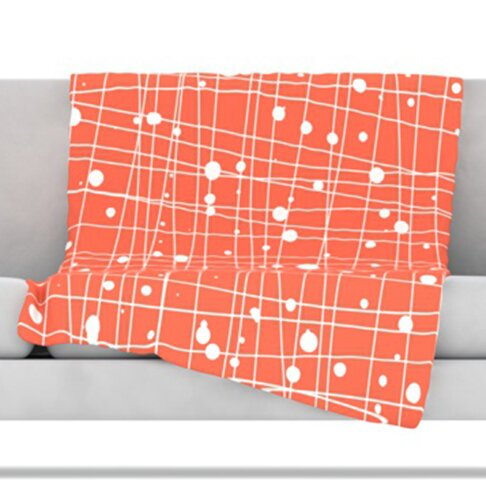 Woven Web I Throw Blanket by KESS InHouse