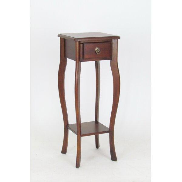 Brunson Pedestal End Table by Alcott Hill