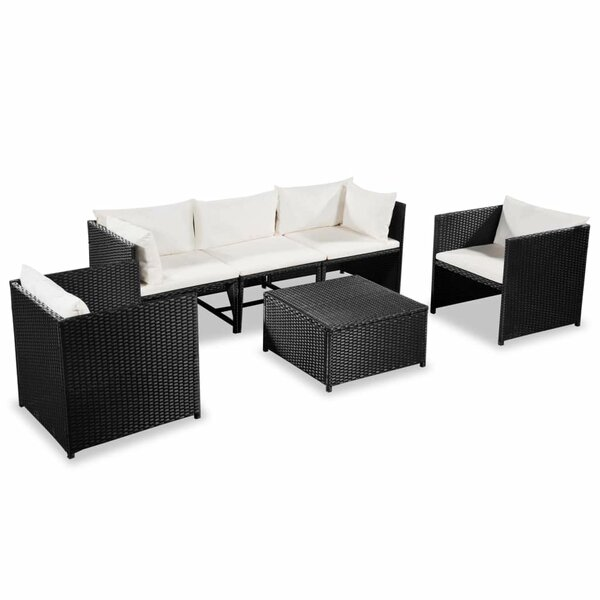 Tenbury Garden 6 Piece Sectional Seating Group with Cushions by Ivy Bronx