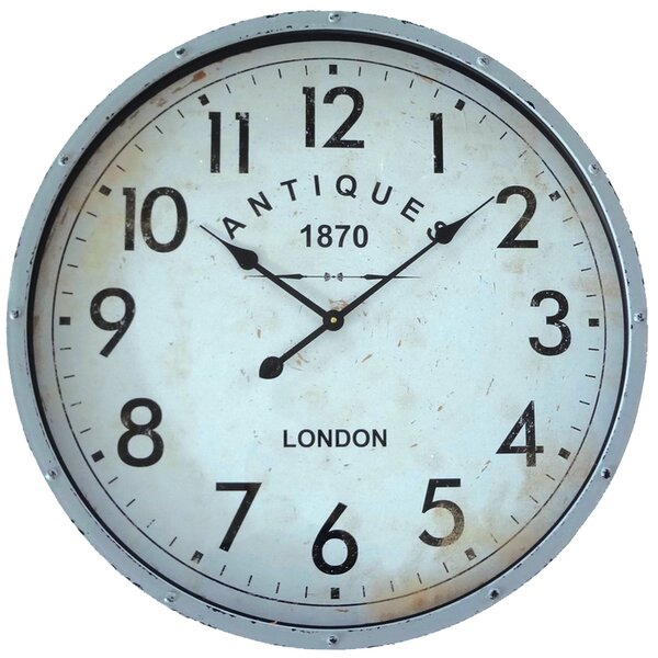 Oversized Antique 1870 26.77 Wall Clock by Gracie Oaks