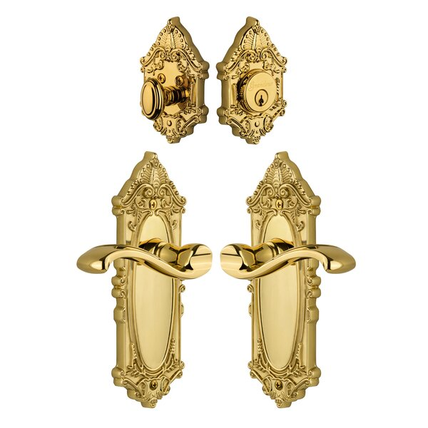 Grande Victorian Keyed Door Lever by Grandeur