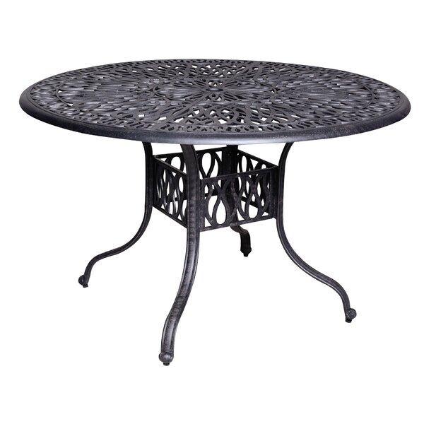 Thurston Aluminum Dining Table by Fleur De Lis Living