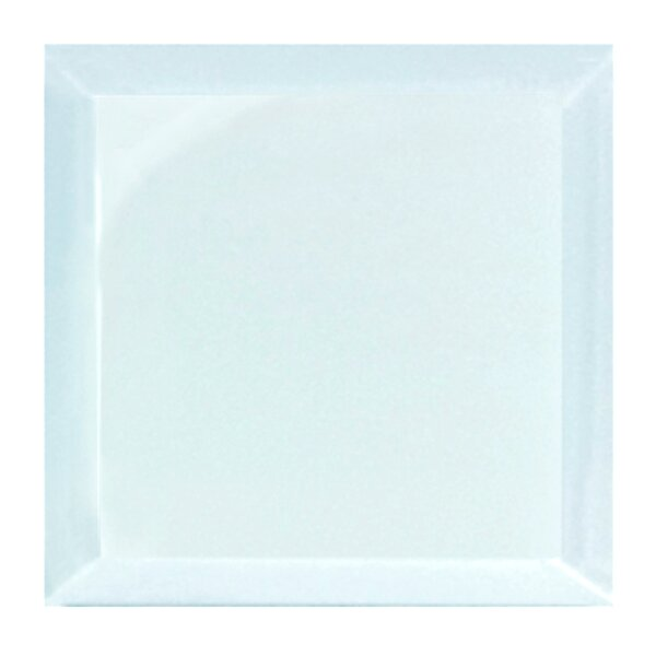 Frosted Elegance 8 x 8 Glass Tile in Glossy Blue by Abolos