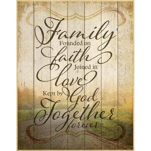 Family Founded on Faith… Textual Art Plaque by Dexsa