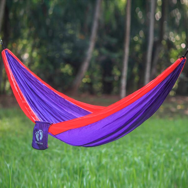 Single Person Fair Trade Light Weight Easy Set-Up Tropics for Hang Ten' Hand-Woven Indonesian Nylon with Hanging Accessories Included Camping and Outdoor Hammock by Novica