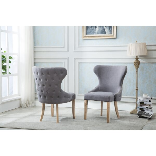 Shaner Upholstered Dining Chair (Set of 2) by Gracie Oaks