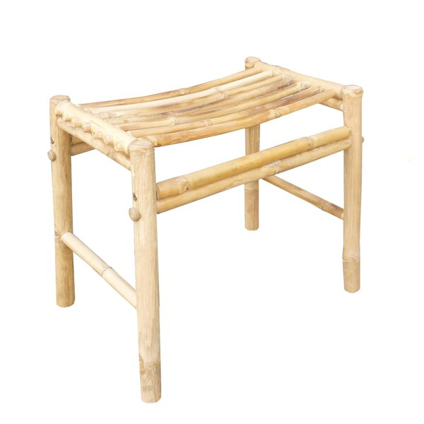 Psimolofou Bamboo Hand Crafted Accent Stool by Bay Isle Home