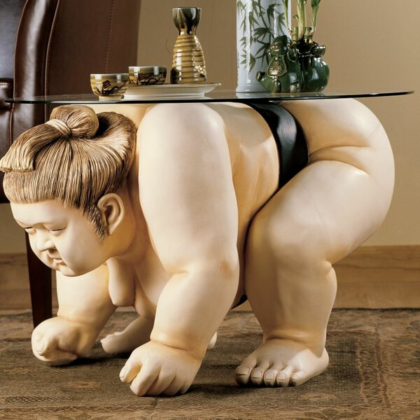 Review Basho The Sumo Wrestler Sculpture End Table