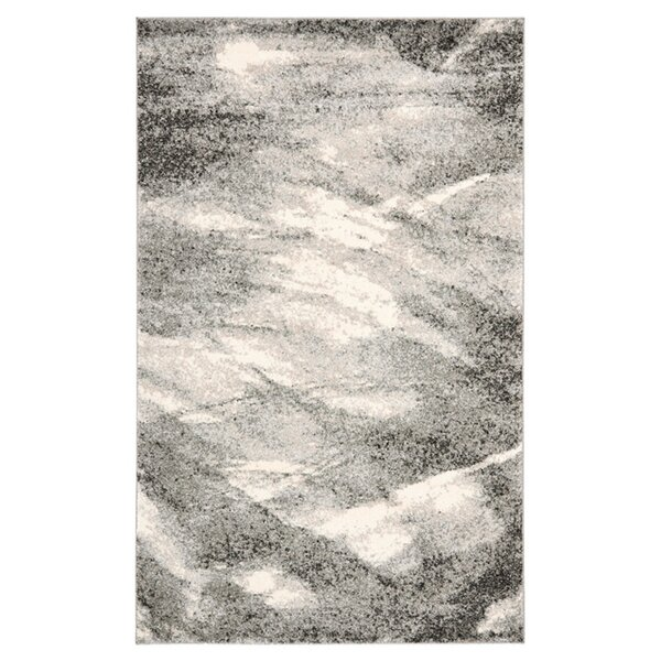Vulpecula Grey and Ivory Area Rug by Mercury Row
