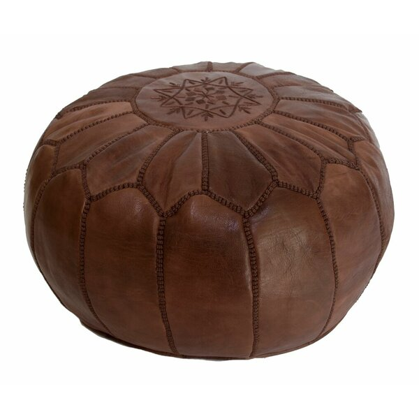 Leather Pouf by Casablanca Market