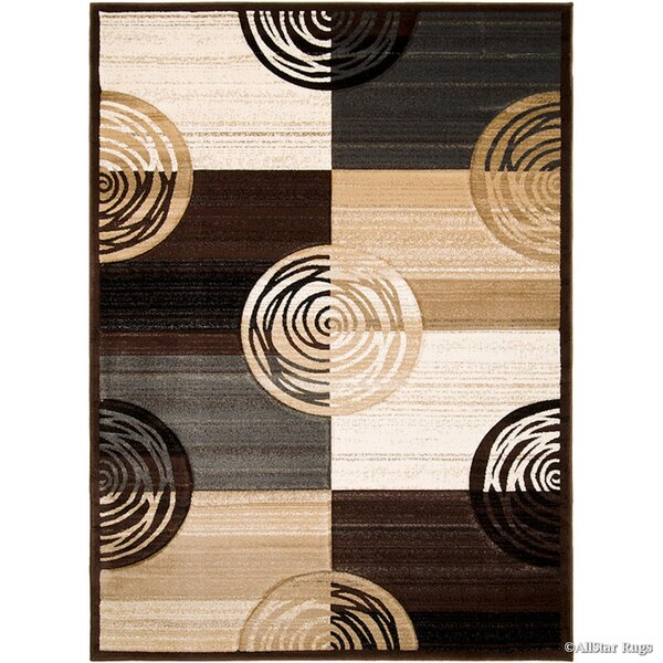 Circles Hand-Woven Chocolate Area Rug by AllStar Rugs