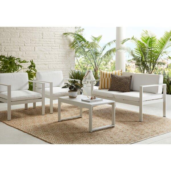 Karen 4 Piece Sofa Seating Group with Cushions by Orren Ellis
