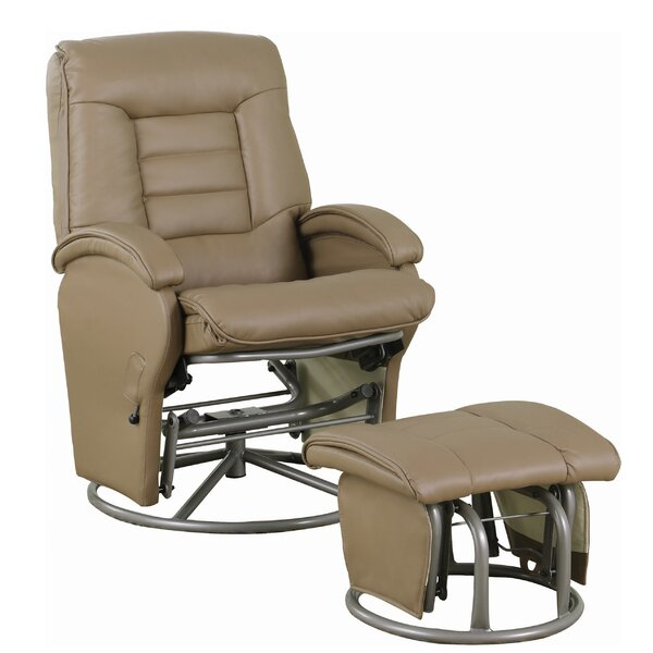 Lexy Upholstered Manual Glider Recliner With Ottoman By Red Barrel Studio