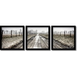 'Picket Path Triptych' by Todd Ridge 3 Piece Framed Photographic Print Set (Set of 3) by Amanti Art