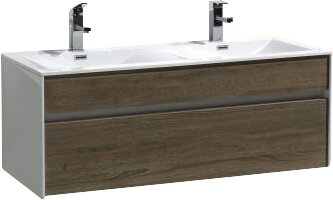 Brockman 20 Wall-Mounted Double Bathroom Vanity Se