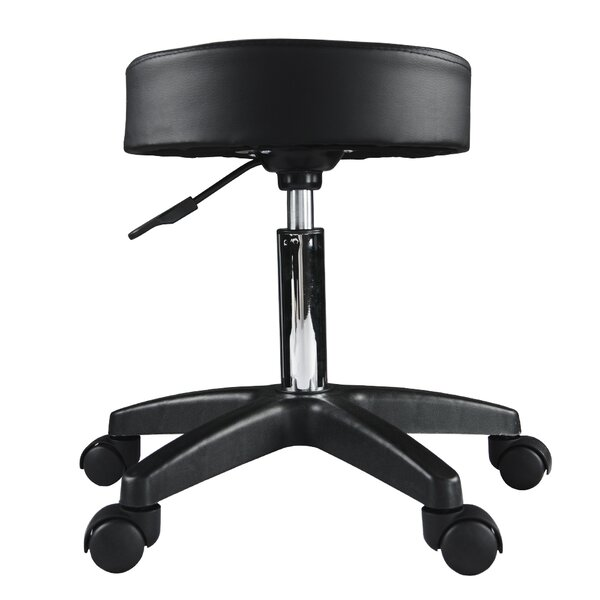 Kaila Height Adjustable Pivoting Stool by Symple Stuff