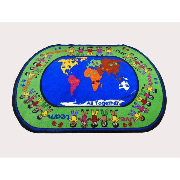 All Together Green/Blue Area Rug by Kids World Carpets