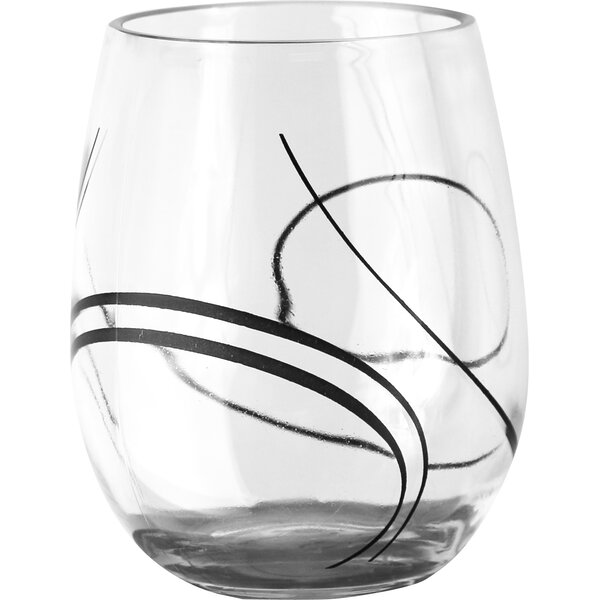 Simple Lines 16 oz. Acrylic Stemless Wine Glass (Set of 4) by Corelle